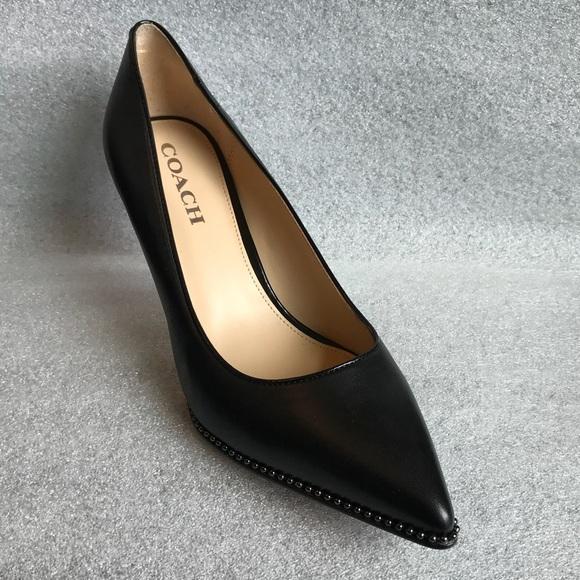 be141ec1772 Coach Shoes - Coach Vonna Leather Pointed Toe Classic Pumps